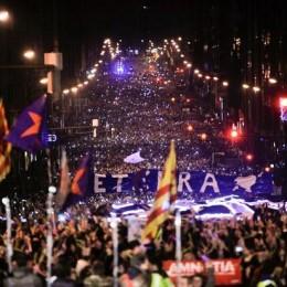 İspanyol Baskısına Karşı Devasa Bask Gösterileri