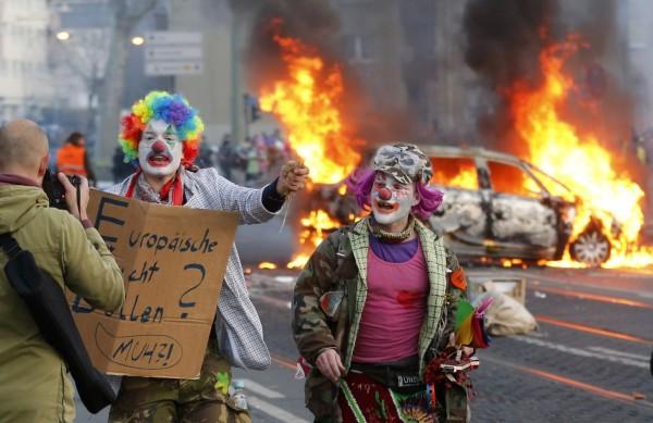 Blockupy eyleminden bir kare