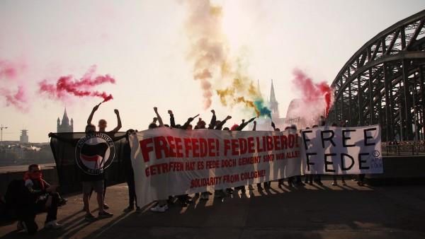 Fede'ye özgürlük eylemi, Köln, Almanya