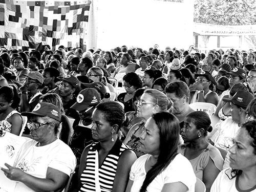 Bahia'daki Politik Eğitim toplantısına 500'den fazla kadın katılmıştı.