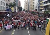 Brezilya: Grevdeki 30.000 Eğitim Emekçisi Parana'da Yürüdü