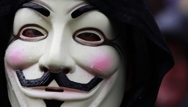 Anonymous hareketinin sembolü, Bir Guy Fawkes maskesi, | Fotoğraf: Reuters