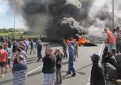 Calais limanı yakınlarında Feribot işçileri başka bir grev başlattı
