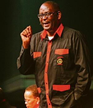 Sürgündeki COSATU Genel Sekreteri Zwelinzima Vavi Fotoğraf: Gallo