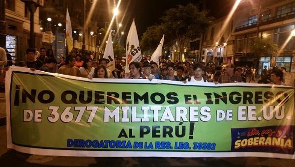 Güney Amerika ülkesinde ABD askeri varlığına karşı eylemler | Fotoğraf: Telesur / Rael Mora