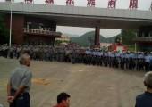 Eylem Cuma günü başladı. Emniyet kuvvetleri yerel idare binalarında toplandı