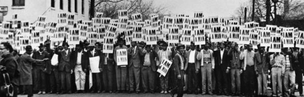Tennessee'de greve çıkan işçilerin pankartlarında 'Ben bir adamım' yazıyor