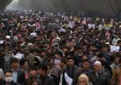 Afganistan: Kabil'de Onbinlerce Kişi Taliban'ı Protesto Etti