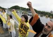 Japonya: Okinawa'daki ABD Üssünü Binler Protesto Etti