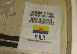 Kolombiya'daki Kirli Pazarlıklara Bugünlerde Barış Deniyor, Devrimci Halk Hareketi