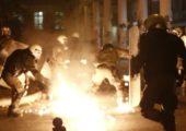 Yunanistan: Genel Grev Öncesi Üçlü Molotof Saldırısı