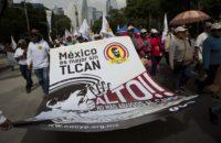 Meksika: NAFTA Anlaşmasının Yeniden Müzakere Edilmesi Protesto Edildi