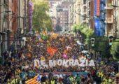 Bask Ülkesinde, Katalan Bağımsızlık Referandumu için Dayanışma Yürüyüşü