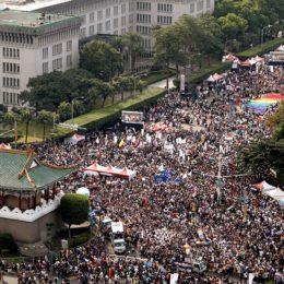 Tayvan'da Kitlesel LGBTİ Onur Yürüyüşü