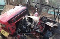 Hindistan: HKP(Maoist) İş Makinalarını Ateşe Verdi