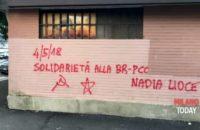 İtalya: Tutsak Kızıl Tugaylar Savaşçısı İçin Duvar Yazıları