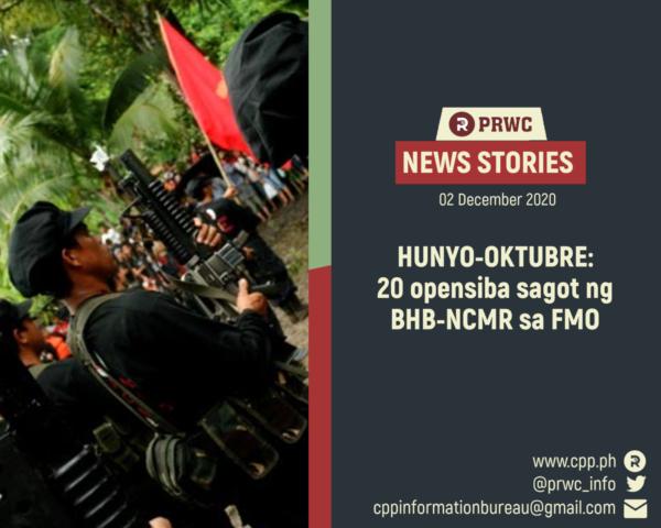 Filipinler: Yeni Halk Ordusu Odaklanmış Askeri Operasyon Bölgelerinde Orduya 20 Saldırı Düzenledi